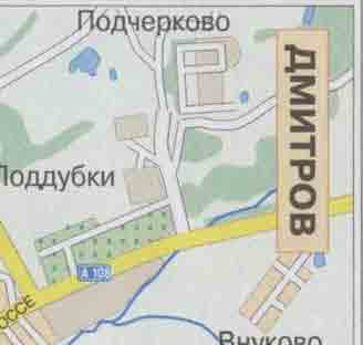 Карта города Дмитров, Дмитровский район, ближайшие города